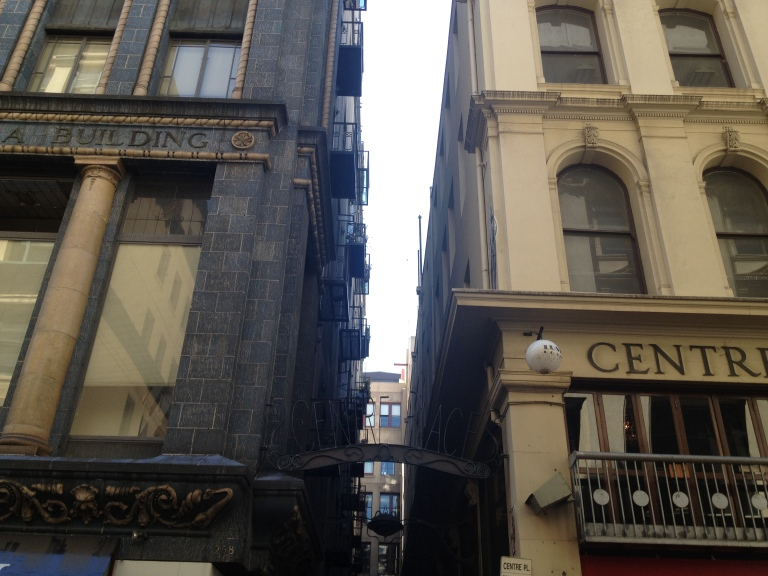 View of Lilli's old world Melbourne apartment from the street
