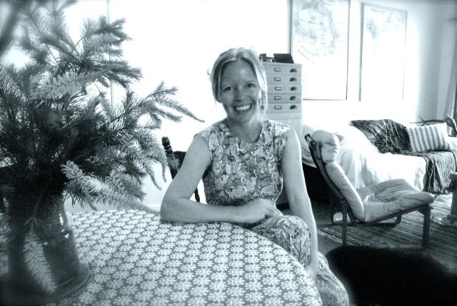 Monique De Jong at home