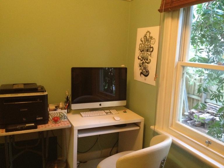 Monique's home studio