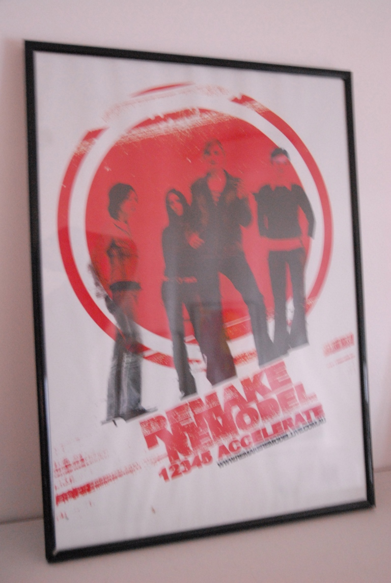 One of Sarah's band posters (she is far right)