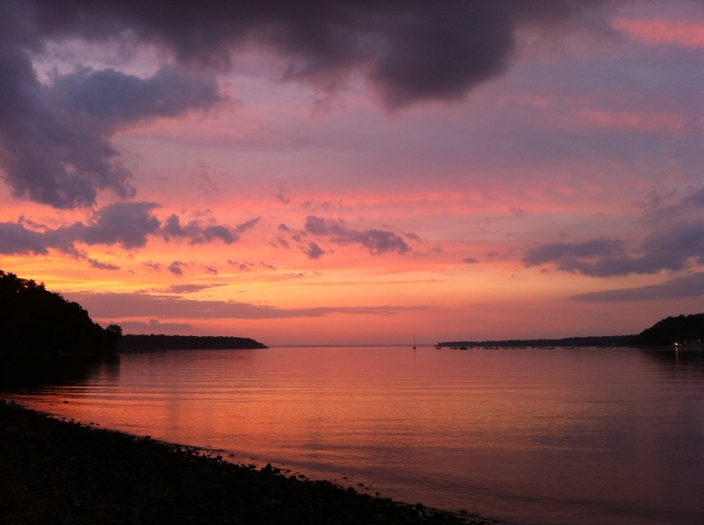 Cold Springs Harbor sunset - by Amy