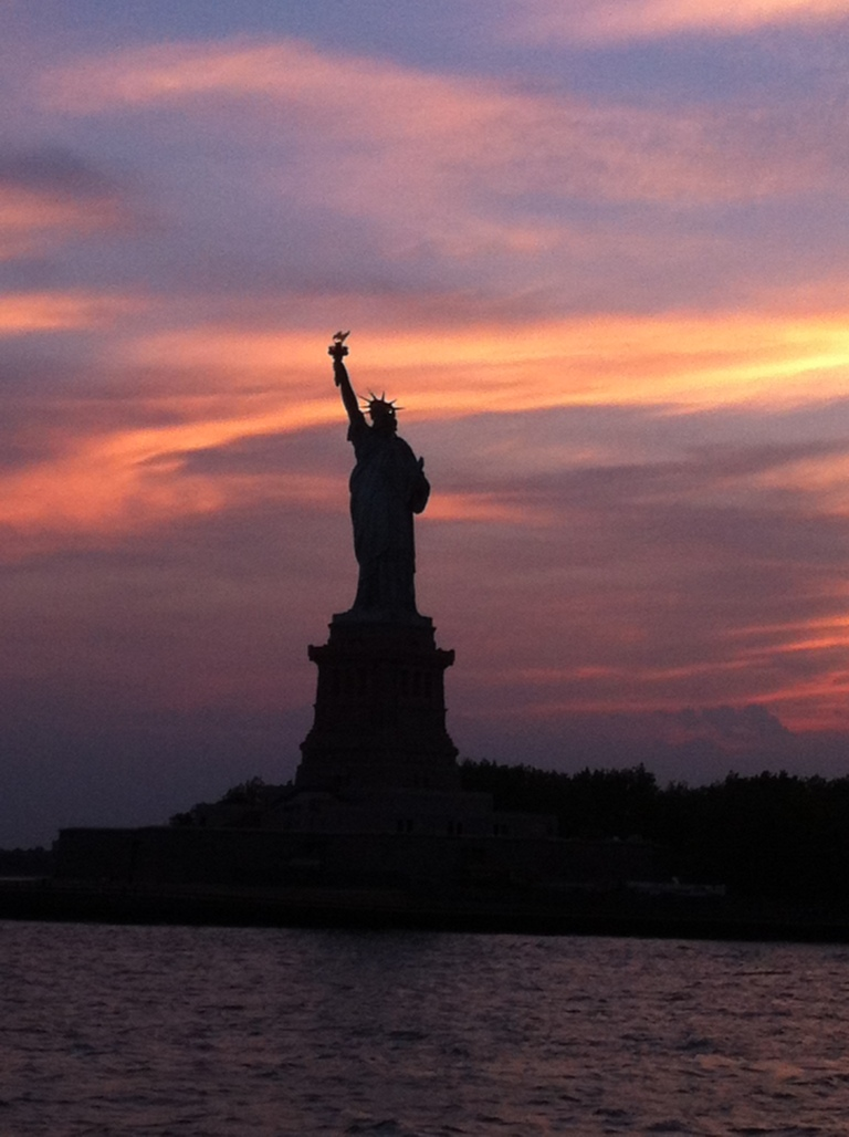 A lovely sunset snap of NYC Lady Liberty