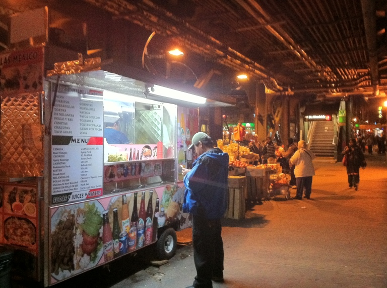 The Taco truck under Queens station