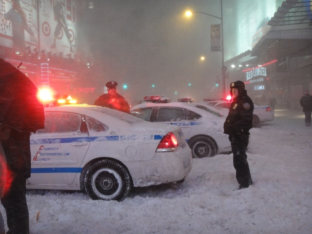 Times Square, blizzard 2010 - photo by Amy