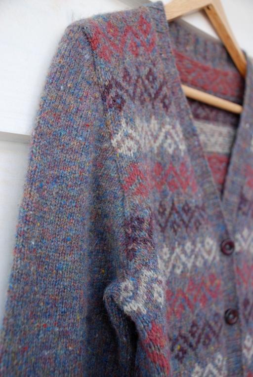 Woollenflower, Handknitted Shetland cardigan
