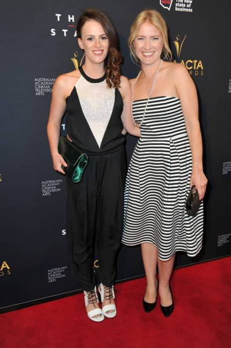 Sam Strauss and Jo Werner at the 3rd AACTA Awards, Sydney 2013 -  photo by Belinda Roland
