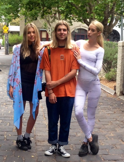 Ellie, Jordan and Rhiannon, Acland Street St Kilda